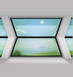 modern panoramic window of the hotel vector image vector image