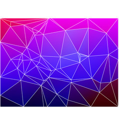 Pink purple blue geometric background with mesh vector