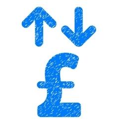 Pound transactions grainy texture icon vector