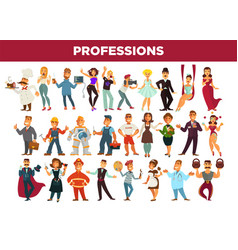 professions and occupation specialists vector image vector image