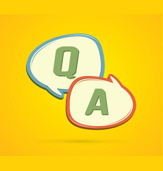 question and answer text in balloons graphic vector image vector image