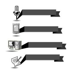 Ribbon communication vector image