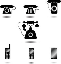 Set of icon phone vector image