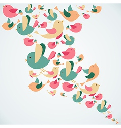 Summer cute birds splash vector image vector image