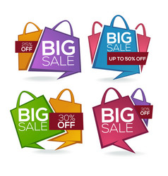 Super sale shopping bags collection of bright vector