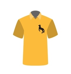 T-shirt with a picture of horse vector