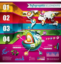 technology design set of infographic elements vector image vector image