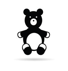 Teddy bear black vector