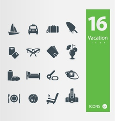 Vacation icons vector image vector image