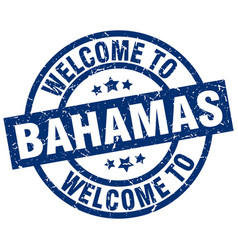 Welcome to bahamas blue stamp vector