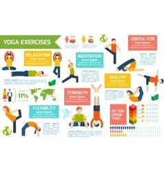 Yoga infographics set vector