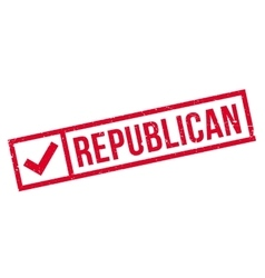 Republican rubber stamp vector