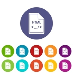 File html set icons vector
