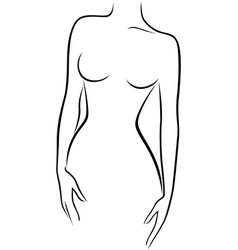 Abstract graceful female figure vector