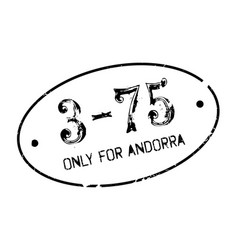 only for andorra rubber stamp vector image