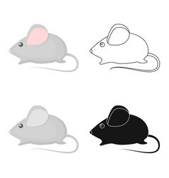 house mouse icon in cartoon style isolated on vector image