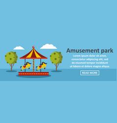 Amusement park banner horizontal concept vector