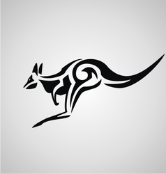 Tribal kangaroo vector