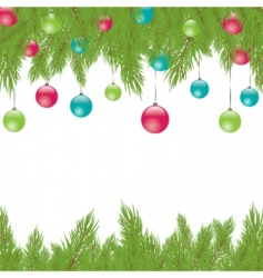Christmas fur tree illustration vector