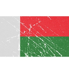 Flag of madagascar with old texture vector