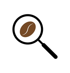 Coffee searching with magnifying glass concept ill vector