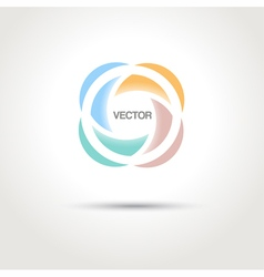 Abstract creative logo template vector