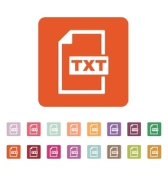 The txt icon text file format symbol flat vector