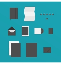 Flat design of office stuff vector