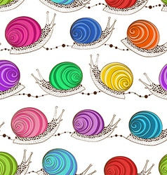 Seamless pattern of snails vector