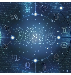 Signs of zodiac vector