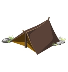 Tent for hiking vector
