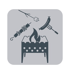 Brazier zephyr kebab and sausage icon vector