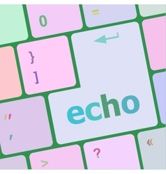 Keyboard key with echo button vector