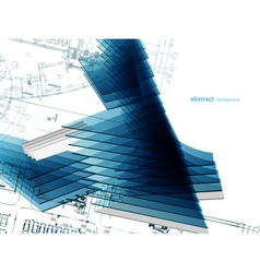 abstract architectural background vector image vector image
