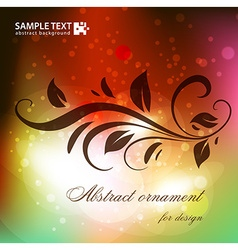 Abstract ornament for design vector