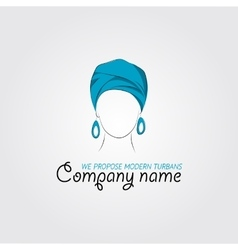 Arabic woman in a turban vector