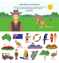 Australia travel concept vector