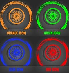 Casino roulette wheel icon fashionable modern vector