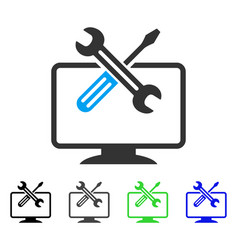 Computer tools flat icon vector