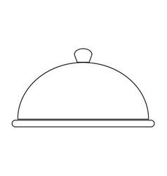 Dish the black color icon vector