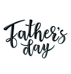 Fathers day lettering poster vector