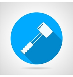 Flat icon for construction sledgehammer vector