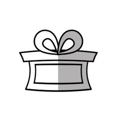 Gift box ribbon traditional decorative shadow vector