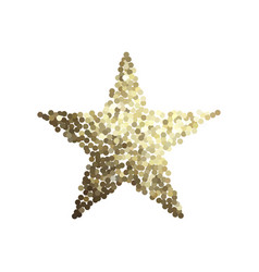 golden star isolated on white background vector image vector image