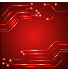 Hi tech circuit board vector