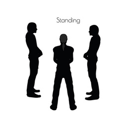 man in Standing pose on white background vector image vector image