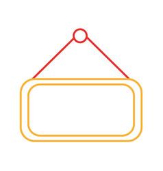 market label door icon vector image