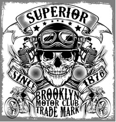Motorcycle label t-shirt design with of custom vector