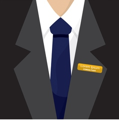 Name badge on shirt vector