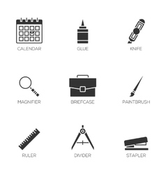 Office tools icons vol 3 vector image vector image